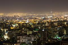 Tehran at night (Martin Tsvetkov) Tags: city travel panorama snow tower architecture landscape photography view iran prayer palace tehran milad shah azadi golestan