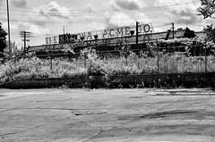 National Acme Company Sign (gregador) Tags: blackandwhite abandoned cleveland urbanexploration oh decayed urbanexploring asbestos urbex scaffoldsign partiallydemolished nationalacmecompany
