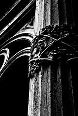 Pillar Of Shades - Scuola Grande Di San Rocco, Venice (Janicskovsky) Tags: venice light shadow blackandwhite bw italy detail building slr church architecture nikon pillar entrance opening column dslr venezia highlight studytour d80 blackwhitephotos nikond80 scuolagrandedisanrocco