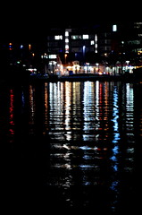 port mnster (redglobe*) Tags: light colour reflection water night port harbor harbour mnster
