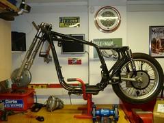 BSA A10 frame (skinnysye) Tags: project cafe build racer bsa b31 400cc