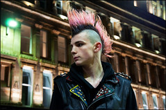 Glasgow Central (csh 22) Tags: portrait night punk glasgow streetportrait hairstyle punkhair glasgowcentral glasgowstreetscene nikond90 glasgowstreetphotography