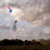 Escape Plan (AftonDufoe) Tags: portrait sky selfportrait girl balloons surreal fantasy squareformat portfolio fineartphotography texturebylesbrumes aftondufoe