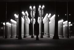 city of streetlights (Xiangk) Tags: bw white black art film america 35mm la los unitedstates angeles lacma