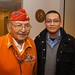 Navajo Code Talker Joe Vandever Sr., and Orson John at a luncheon and book signing hosted by the Navajo Nation Washington Office. Dec. 7, 2011. Photo by Jared King / NNWO.