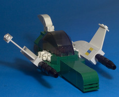 Untitled (brickmack) Tags: white green lego space scifi spaceship starfighter cockpitbox