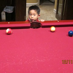 Playing pool (ssilberman) Tags: christmas house scotts huntingtonbeach 2011