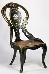 65. Victorian Mother-of-Pearl Parlor Chair