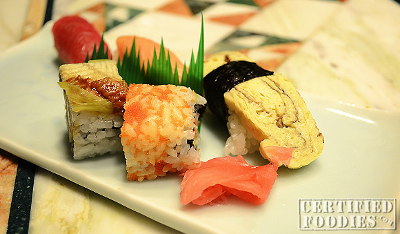 A variety of sushi and maki to start off your meal