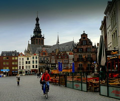 """Old Town"" Nijmegen, The Netherlands (Explored) (Butch Osborne) Tags: bridge holland dutch bicycle nijmegen river wwii scenic thenetherlands streetscene cobblestone worldwarii historical rhine oldtown rhineriver germans operationmarketgarden kleve 82ndairbornedivision"