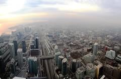 West side of Toronto (jepoirrier) Tags: autostitch panorama toronto canada west building tower pod cntower stitch hugin