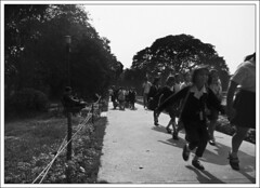 Herd of young spirits (Abhirup Bose) Tags: blackandwhite flickrcentral nationalgeographic indianstreetphotography blackandwhitestreetphotography calcuttakolkata creativephotogroup unseenindia flickrtravelaward photographismemory