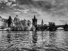 B&W 1 (ZO(ly)) Tags: bridge bw czech prague karlov blackwhitephotos
