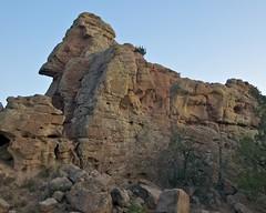 Sphinx Rock (Ken'sKam) Tags: newmexico nature sandstone gardenofthegods geology nm14 santafecounty loscerrillos dakotasandstone sandstonefins allnaturesparadise gardenofthegodsnewmexico turquoistrail