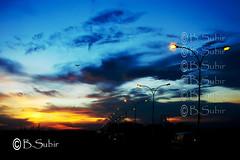 Blue hour at Kolkata..DSC04639 (subirbasak) Tags: tree nature silhouette plane photography pattern dusk nopeople aeroplane lightpost kolkata calcutta scenics tranquilscene beautyinnature subirbasak romanticsky bluehouratkolkata colorfulcalcutta