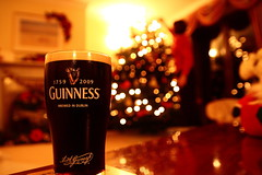 Yeah looks great there mum.... (guff vaughan) Tags: christmas snow tree beer ball father guinness pint