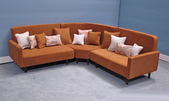 huge sectional sofa 2 pillows (smidge girl) Tags: tan livingroom couch sofa blythe sectional commission corduroy sixthscale