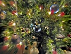 xmas bling (Mr.  Mark) Tags: christmas xmas decorations light blur tree photo balls bling radial 2011 markboucher