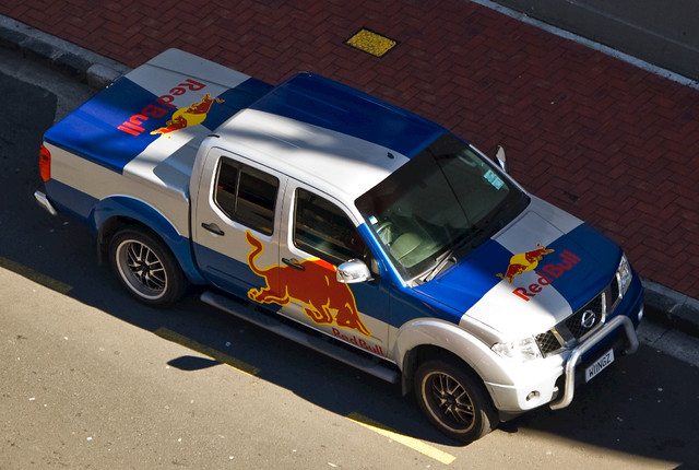 "Red Bull commercial car "" WINGZ "" licence plate"
