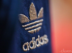 Adidas (Eleven ~ NYC~ Teresa) Tags: pink blue light macro cute me beautiful silver logo photography for sweater colorful god bokeh sparkle photographs adidas elevens macrolicious ourdailychallenge elevenphotography