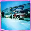Stuck (DavidEagle) Tags: winter people snow iceland nissan phone reykjavik pe reykjavík patrol towing iphonography hipstamatic