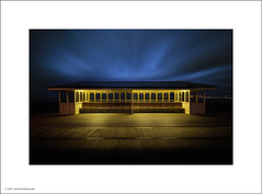 Southport Pier (Ian Bramham) Tags: lighting colour night wooden artificial shelter southport ianbramham southportpierandkids