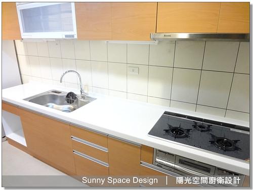 內湖路一段楊小姐木紋系廚具-陽光空間廚衛設計9