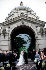 Husband and wife at Elephant House (Christopher Duggan) Tags: wedding husbandandwife bronxzoo brideandgroom firstkiss