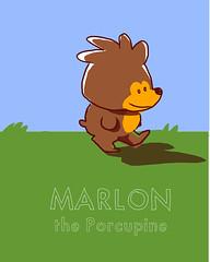 marlon the porcupine (abelincolnjr) Tags: illustration doodle porcupine marlon abelincolnjr 2012 mangastudio4