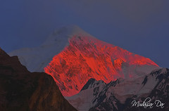 Last Light (Mudassar Ahmed Dar) Tags: pakistan light sunset snow nature sunrise canon landscape photography nager day dar north peak glacier kkh peaks hunza ahmed gilgit supershot monutains 40d gettyimagespakistanq12012