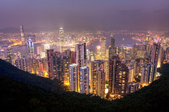 The Peak Hong Kong (Dylan Farrow) Tags: longexposure night hongkong thepeak hdr pixelpost flickrpost 450d
