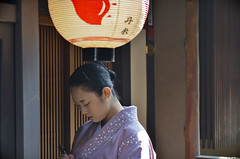 Geiko (LPstyle) Tags: camera old trip travel shadow orange japan temple photography japanese ancient nikon kyoto asia path capital culture monk tunnel tourist east maiko geiko geisha nippon nikkor shinto far gravel pilgrim monastry 1424 mygearandme mygearandmepremium mygearandmebronze
