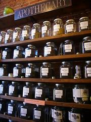 Apothecary (Heath & the B.L.T. boys) Tags: organic food jars shelves colorado tea canister herbs apothecary