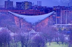 Berlin, vu depuis la terrasse du Reichstag, Haus der Kulturen der Welt (paspog) Tags: berlin deutschland roofs reichstag allemagne toits decken