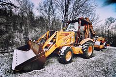 2:365 580 Super K (bqdockey) Tags: trees winter sky snow tractor tree yellow work nikon tokina hoe shovel job frontendloader 1116mm d7000 tokina1116mmf28