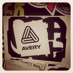 #Avery label co dissing #MQ ? (tyotoys) Tags: square stickerart mq squareformat slaps earlybird mque mqism iphoneography mqizm instagramapp uploaded:by=instagram
