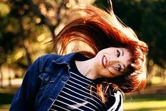 Happiness. (Sergio Heads) Tags: trees españa naturaleza verde nature valencia girl smile face canon mouth hair eos 50mm spain eyes flickr arboles chica bokeh adolescente cara young things movimiento jacket ojos bosque sonrisa tones boca mirada pelo 2012 tono chaqueta enfoque tonos sergioheads marisawolff sergioheadsphotography sergioheadsflickr