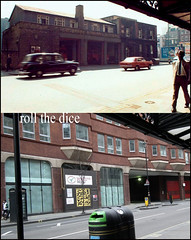 Shaftesbury Avenue`1972-2011 (roll the dice) Tags: christmas uk travel london art history classic westminster architecture war traffic theatre soho chinese victorian shops leicestersquare coventgarden local firemen firestation bombs blitz 1972 seventies demolished w1 charingcross westend firefighters shaftesburyavenue brigade 1921 oldandnew dwellings pastandpresent londonist theatreland bygone hereandnow newportbuildings