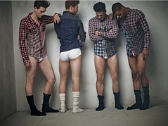 Guys in Plaid Shirts and White Briefs (soccerstud1381) Tags: hot sexy male ass penis junk boxers underwear legs butt crack briefs undies buttocks wedgie embarassing skimpy pantsed tightywhities waistband whitebriefs
