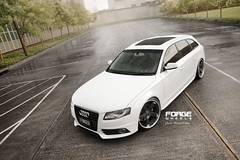 FORGE Wheels Audi A4 (Matyas Fulop) Tags: wet rain bags forge audi forged slammed airbags fitment forgewheels