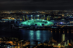 The Dome (murphyz) Tags: above longexposure london thames night lights britain o2 millennium arena dome olympic olympics 2012 london2012 2012olympics londonolympics olympiccity