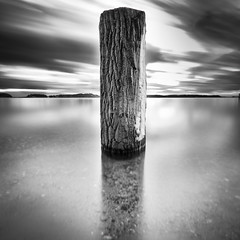 North Pole.. (Peter Levi) Tags: ocean wood longexposure sea blackandwhite bw snow blancoynegro water sand sweden stockholm smooth pole le travellingclouds tplringexcellence eltringexcellence snowypole