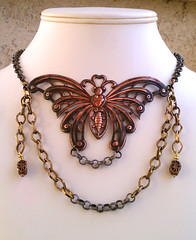 Chain of Butterfly Fools! (marehar) Tags: wild butterfly necklace chain statement brass bold 2012 bsueboutiques