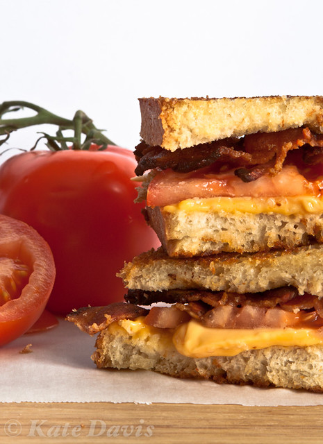Tomato and Bacon Grilled Cheese (on homemade bread)