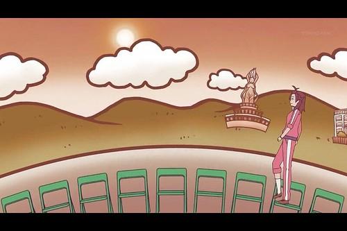 輪廻のラグランジェ_鴨川カット_魚見塚展望台の女神像