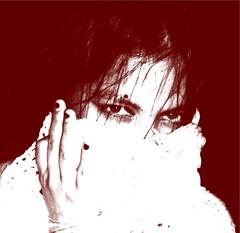 rebozoblanco-duotono-redcontrast (Poesa verde-) Tags: woman whi