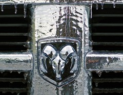 Ram Cold (Darrell Wyatt) Tags: black ice silver pickup grill ram icesickles