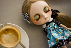 coffee with something sweet (JennWrenn) Tags: travelling project doll australia international blythe amelia visiting gbabycustom