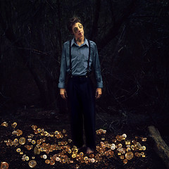 a boy broken (brookeshaden) Tags: boy texture metal forest woods factory mechanic