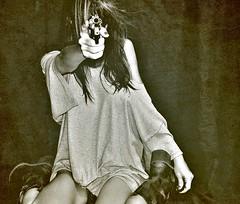gangstaaaaaaaaa...... (nikkidelmont) Tags: portrait texture girl self dark nikon gun notnude nikkidelmont